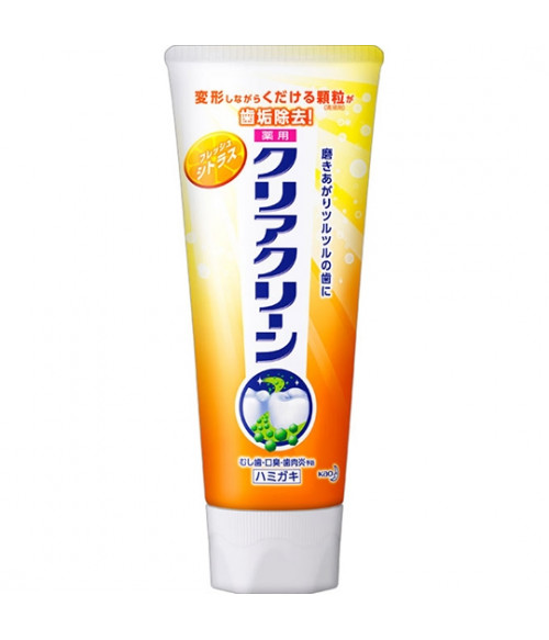 Clear Clean Medicated Tooth Paste Fresh Citrus 130g  Kao Japan